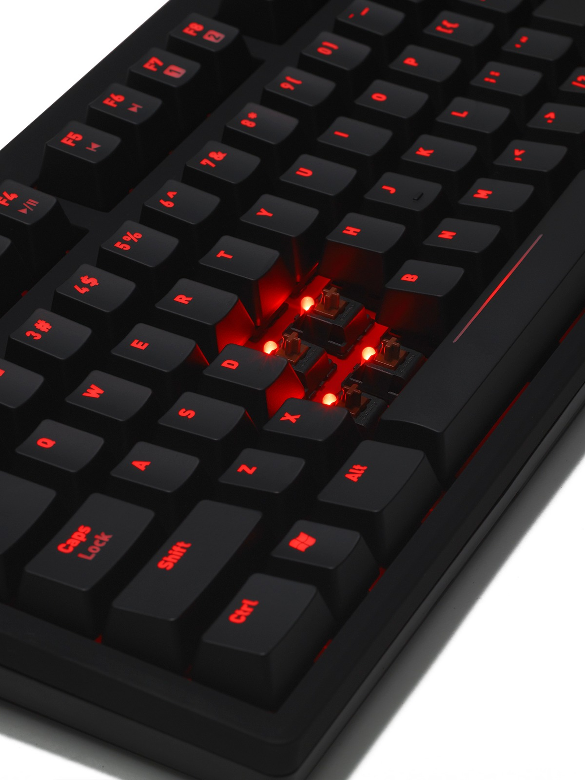 Fnatic Rush Pro Gaming Keyboard - Cherry MX Brown for PC Games image
