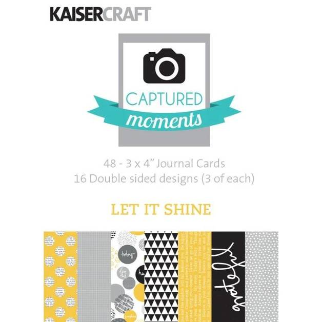 """Kaisercraft: Captured Moments 3x 4"""" Cards - Let it Shine (Pack of 48)"""