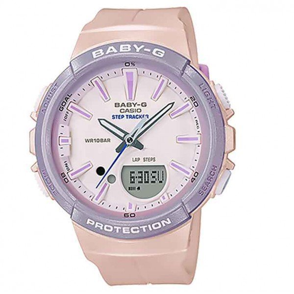 Baby-G Step Tracker Watch BGS100SC-4A - Pink/Lilac