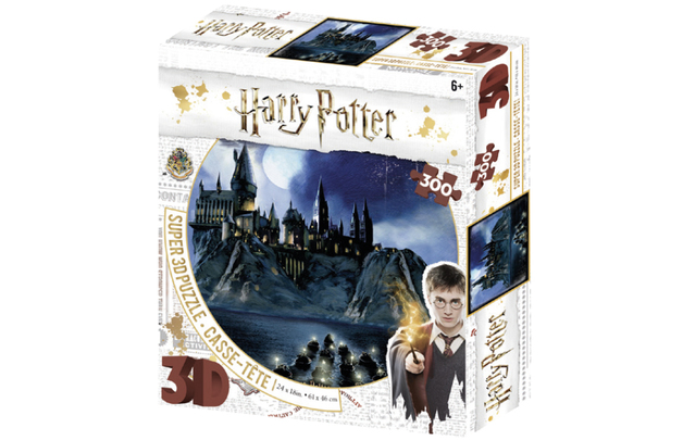 Super 3D: 300-Piece Jigsaw Puzzle - Harry Potter: Hogwarts