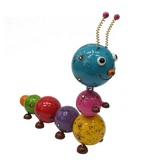 Cheeky Metal Animal Ornament - Cheeky Caterpillar
