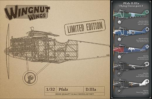 Wingnut Wings 1/32 Pfalz D.IIIa 'Flying Circus part 2'