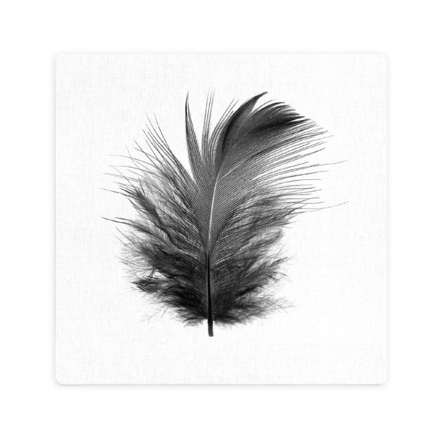 Splosh: Tranquil Black Feather Ceramic Coaster
