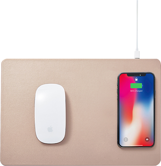 Pout HANDS 3 Wireless Charging Mouse Pad Latte Cream