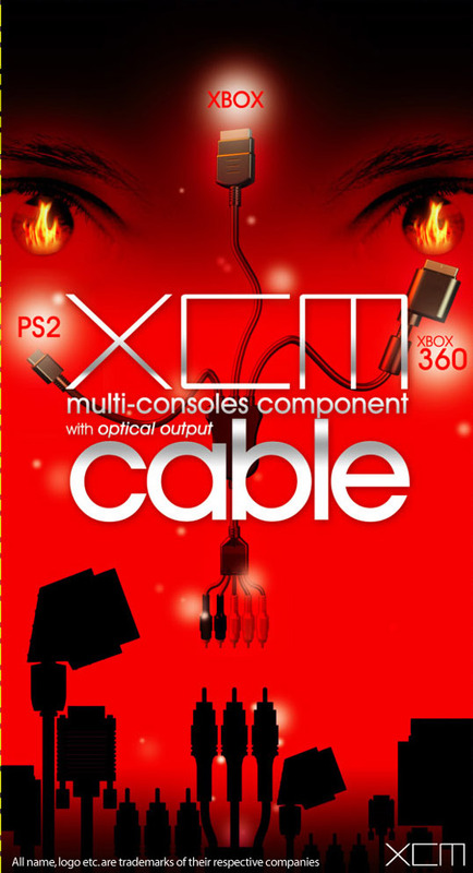 XCM Multi-Consoles Component Cable for Xbox 360