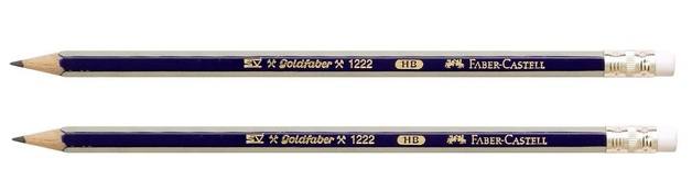 Faber-Castell: Goldfaber Graphite Pencil HB with Eraser - 2 Pack