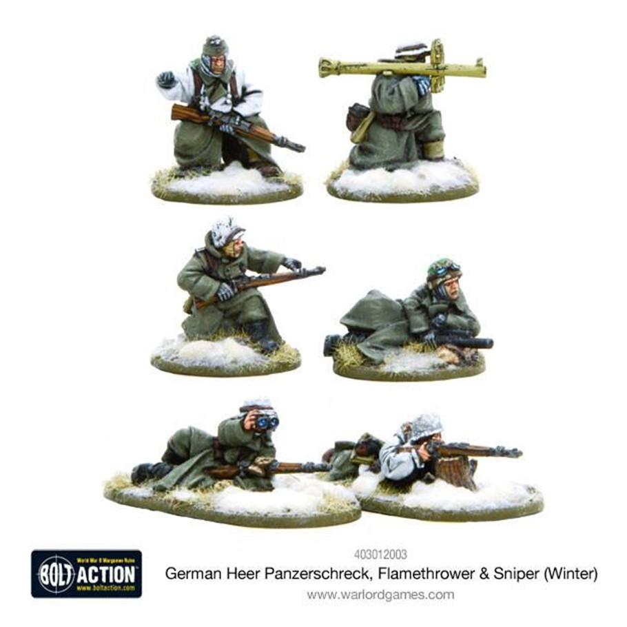 German Heer Panzerschreck, Flamethrower & Sniper teams (Winter) image