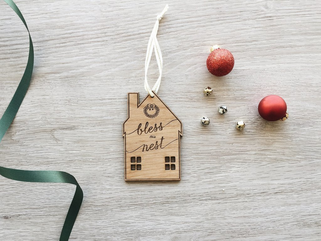 Cardtorial Christmas Ornament - Bless This Nest image