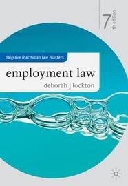 Employment Law by Deborah J. Lockton image