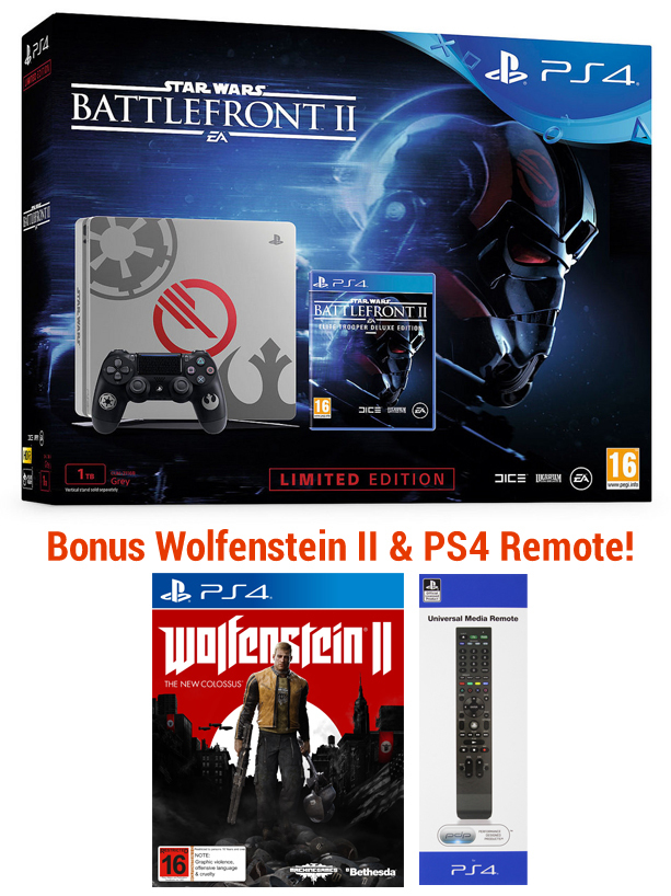PS4 1TB Star Wars Battlefront II Limited Edition Console Bundle for PS4 image