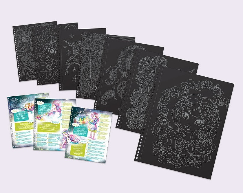 Nebulous Stars - Black Pages Colouring Book image