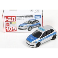 Tomica: 109 Volkswagen Polo Patrol car