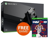 Xbox One X 1TB NBA 2K19 Console Bundle for Xbox One