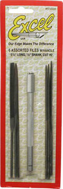 """Excel Assorted Needle File Set with Handle 5 1/2"""" (6pc)"""