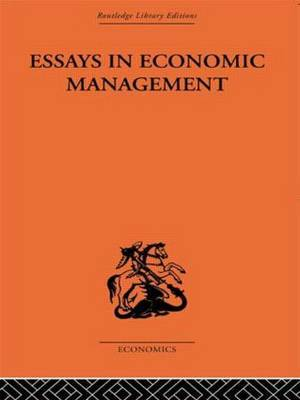 Essays in Economic Management by Alec Cairncross image