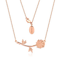 Disney Beauty and the Beast Rose Necklace - Rose Gold