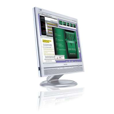 """Philips 170B6CS 17""""  LCD Monitor + FREE DiskTwinMOS Mobile Disk 256MB USB 2 Combo Special image"""