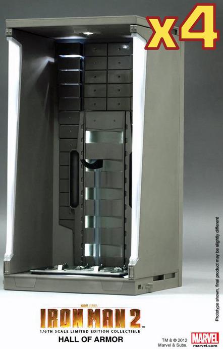 Iron Man 2 Hall of Armor Diorama - Set of Four