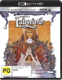 Labyrinth on Blu-ray, UHD Blu-ray, UV image