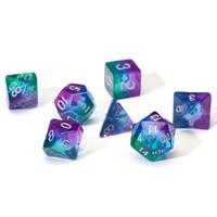 Sirius Dice: Polyhedral Dice Set - Translucent Blue Aurora image