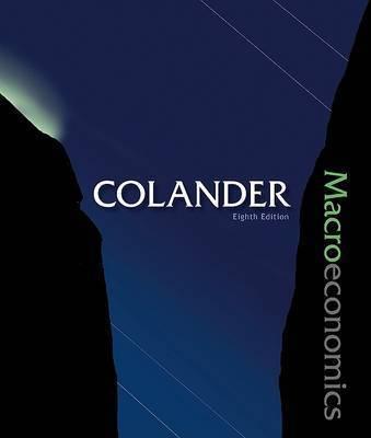 Macroeconomics with Connect Plus by Colander David