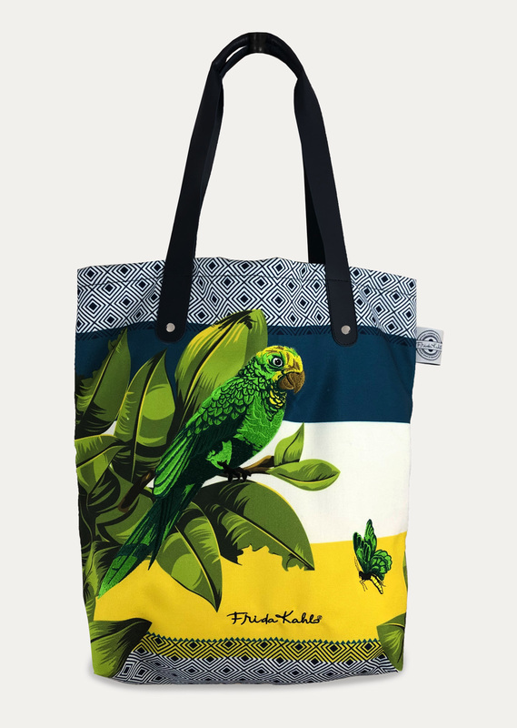 Frida Kahlo - Bonito Tote Bag with Pom Poms