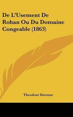 de L'Usement de Rohan Ou Du Domaine Congeable (1863) by Theodore Derome