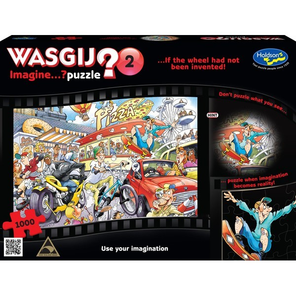 Wasgij: Imagine 2 - If the wheel had not been invented 1000pce image