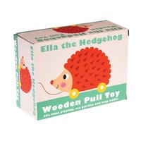 Wooden Pull Toy - Ella the Hedgehog