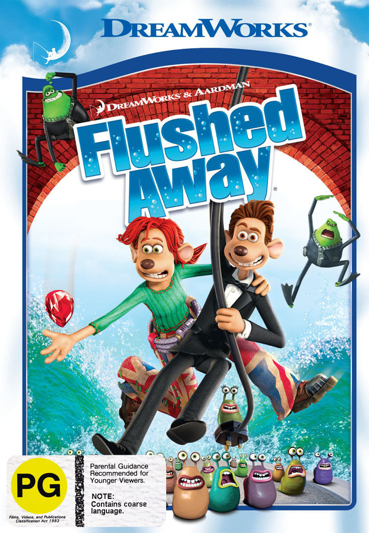 Flushed Away on DVD image