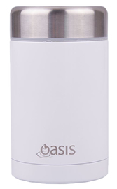 Insulated Stainless Steel Food Flask - 450ml (White) image