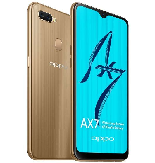 OPPO AX7 Smartphone Glaring Gold image