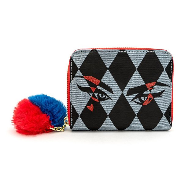 Loungefly: Birds of Prey - Harley Eyes Zip Around Wallet