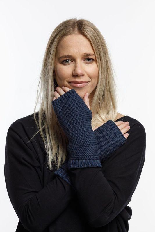 Home-Lee: Fingerless Gloves - Ink Navy