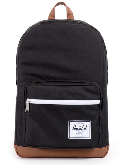 Herschel Supply Co: Pop Quiz - Black/Tan Synthetic Leather