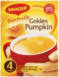 MAGGI Soup for a Cup Golden Pumpkin 78g 4pk