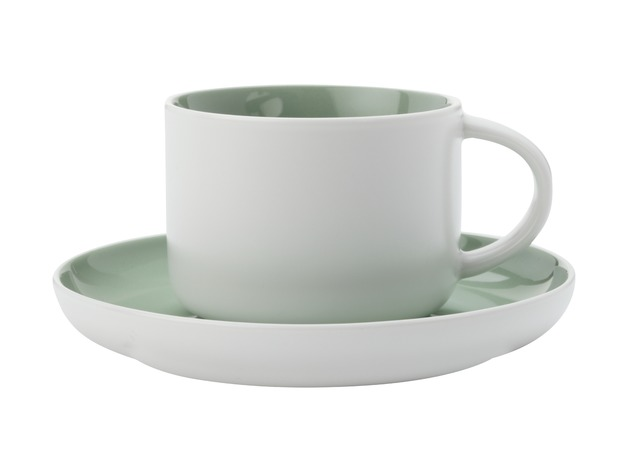 Maxwell & Williams - Tint Tea Cup & Saucer Mint (250ml)
