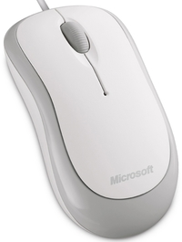 Microsoft Wired Basic Optical Mouse White USB image