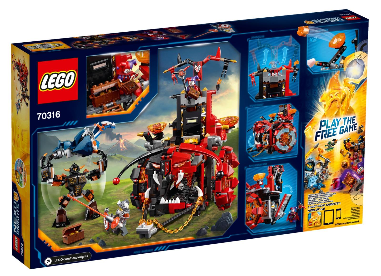 lego nexo knights  jestro's evil mobile 70316  toy