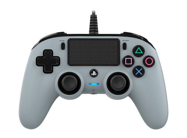Nacon PS4 Wired Gaming Controller - Grey for PS4