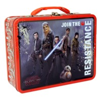 Star Wars: The Last Jedi Embossed - Large Tin Lunch Box - (Resistance)