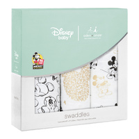 Aden + Anais: Metallic Swaddle - Mickey's 90th (3 Pack)