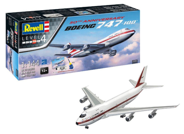 Revell: Boeing 747-100 - 1:144 Scale Gift Set