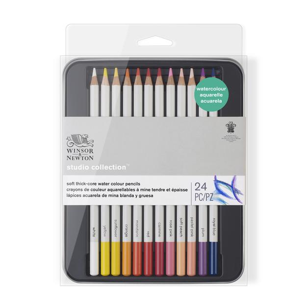 Winsor & Newton: Watercolour Pencil Tin - 24 Piece