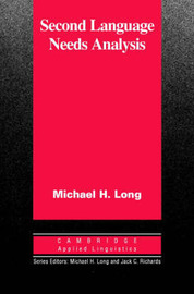 Second Language Needs Analysis by Michael H. Long image