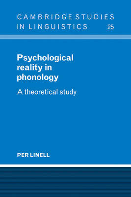 Psychological Reality in Phonology by Per Linell image