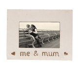 Me and Mum Photo Frame - White