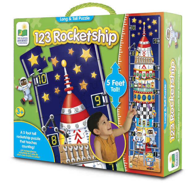 The Learning Journey: Long & Tall Puzzle - 123 Rocket Ship