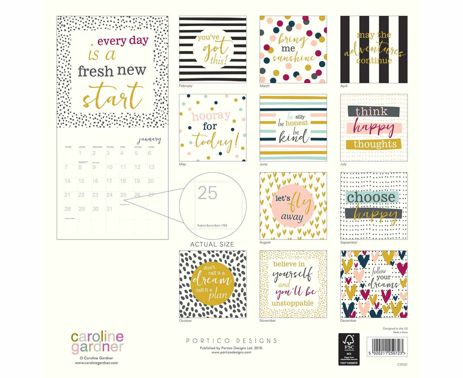 Caroline Gardner: Hey You 2019 Wall Calendar image