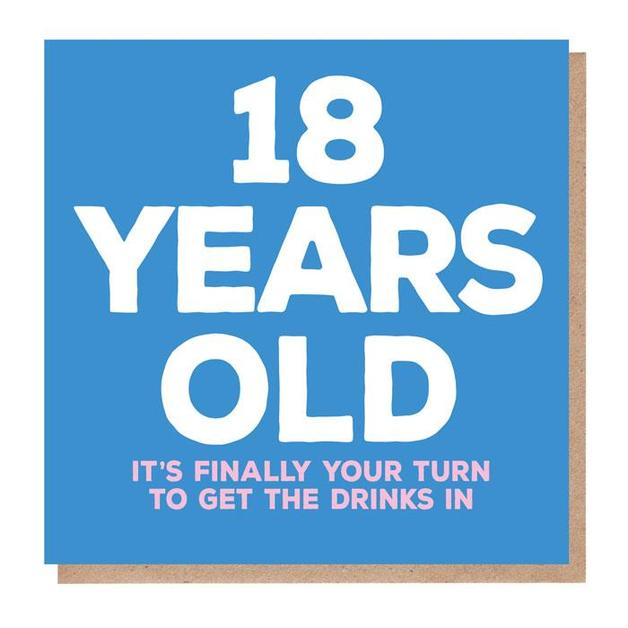 Mixed Messages: 18 Years Old Birthday Card
